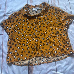 Daily Special animal print cropped shirt-small